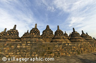 Photos Indonésie - Java - Borobudur - Le temple de Borobudur